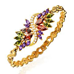 Dames Armbanden met ketting en sluiting Kristal Kristal Zirkonia Verguld Gouden Sieraden VoorBruiloft Feest Dagelijks Causaal