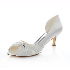 Women's Shoes Stretch Satin Stiletto Heel Heels / Peep Toe Sandals / Heels Wedding / Party & Evening / Dress Ivory