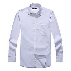 zeven Brand® Heren Overhemdkraag Lange mouw Shirt & Blouse Cyaan-704A3B5859