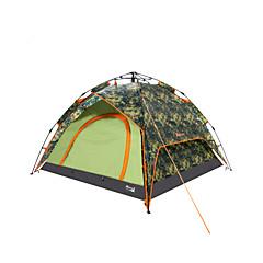 """Makino 3-4 אנשים אוהל משולש חדר אחד קמפינג אוהל 2000-3000 מ""""מ פוליאסטרעמיד למים נשימה מוגן מגשם עמיד לאבק נגד חרקים עמיד ברוח מאוורר היטב"""