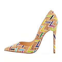 נעלי נשים-בלרינה\עקבים-דמוי עור-עקבים-צבעוני-חתונה / משרד ועבודה / מסיבה וערב-עקב סטילטו