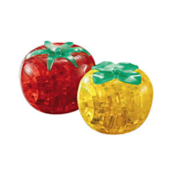 Quebra-cabeças Quebra-Cabeças 3D / Quebra-Cabeças de Cristal Blocos de construção DIY Brinquedos tomate ABS Vermelho / AmareloModelo e