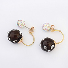 Cheapest Jewelry 6 Colors Fashion Korean Style Candy Colors Double Side Stud Earrings Simulated Pearl Earrings For Women