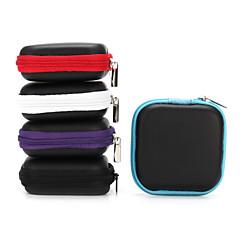 קשה אוזניות מקרה pu עור אוזניות רוכסן תיק מיני 1pc עבור אוזניות אוזניות 6.5 * 6.5 * 2 סנטימטר שחור סגול כחול אפור אדום
