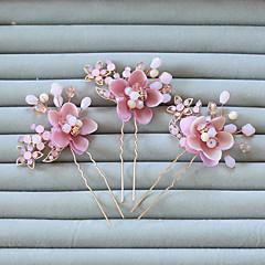 נשים / נערת פרחים ריינסטון / סגסוגת / שרף כיסוי ראש-חתונה / אירוע מיוחד סיכת שיער 2 חלקים