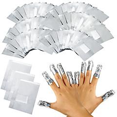 100шт / много алюминиевой фольги искусства ногтя впитать от геля акриловый лак для ногтей удаление обертывания для снятия макияжа