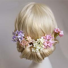 Femme Jeune bouquetière Alliage Tissu Casque-Mariage Occasion spéciale Epingle à Cheveux 4 Pièces
