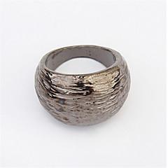 指輪 女性用 ストーン無し 合金 合金 4.0 / 6 ゴールド / ブラック / ホワイト