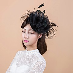 Women's Basketwork / Organza Headpiece-Wedding / Special Occasion / Casual / Outdoor Fascinators 1 Piece