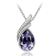 Thousands of colors  Women's Alloy Necklace Daily Crystal-1-148