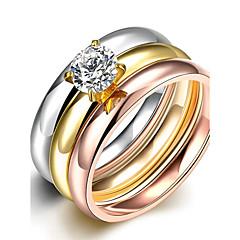 טבעות רצועה טבעות הצהרה טבעת זירקונה מעוקבת זירקון זירקוניה מעוקבת אופנתי סגנון בוהמיה סטייל פאנק מתכווננת מקסים גדילים צבעים מגוונים