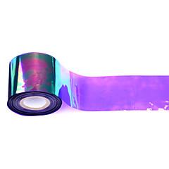 1roll 5cm * 100m holografic lucios de transfer cu laser de unghii folie autocolant de sticlă spartă unghii decorare diy frumusete