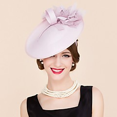 Women's Silk Headpiece-Wedding / Special Occasion / Casual Hats 1 Piece
