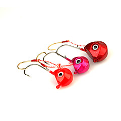 1pcs Metal Bait Jig Head Hook 40g Sinking Sea Fishing Lure Random Color