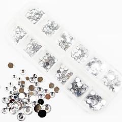 1200PCS AB Color Acrylic Diamond Nail Art Decorations 1.5/2/3/4/5/6 MM