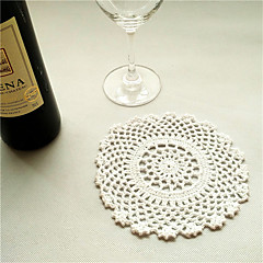 24pcs/lot Vintage Round Shaped White Doilies Placemat Handmade Crocheted Cotton Doilies