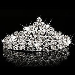 Dame Blomsterpige Rhinstein Krystall Hodeplagg-Bryllup Spesiell Leilighet Utendørs Diademer 1 Deler