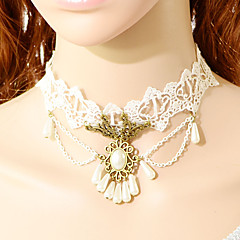 Women's White Lace Pearl Pendant Choker Necklace Anniversary / Daily / Special Occasion / Office & Career