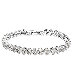 Thousands of colors Women's Tennis Bracelet Alloy Crystal-3-079