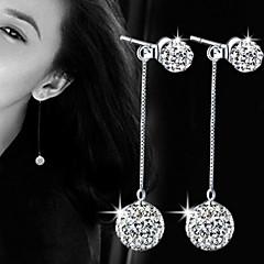 עגיל Circle Shape תכשיטים 1 זוג דמוי פנינה / אופנתי / מקסים Party / יומי פנינה / סגסוגת נשים כסף