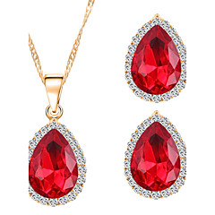 New Style Classic Teardrop-shaped Gems Necklaces