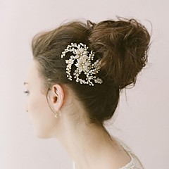 Women's Pearl / Alloy Headpiece-Wedding / Special Occasion Hair Combs / Flowers / Hair Stick / Hair Tool 1 Piece Clear