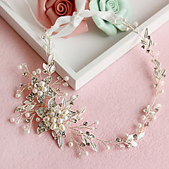 Women's Crystal / Alloy / Imitation Pearl Headpiece-Wedding / Special Occasion Headbands 1 Piece