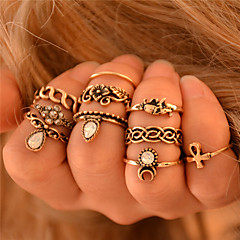 Žene Prestenje knuckle ring Personalized Punk stil Moda Vintage Bohemia Style kostim nakit Dragi kamen Flower Shape Animal Shape Slon