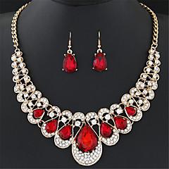 Jewelry Set Drop Earrings Statement Necklaces Earrings Bib necklaces Fashion European Luxury Gemstone Imitation Diamond  Shiny Drop Wedding Party