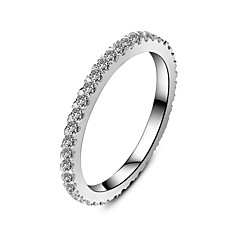 Sterling Silver Infinity Wedding Band Ring Fully Embed 0.55CT 18K White Gold Plated Brand Band for Women SONA Diamond