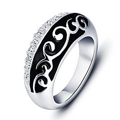 Statementringen Legering Zirkonia Ronde vorm Modieus verklaring Jewelry Zwart Sieraden Feest Dagelijks Causaal 1 stuks