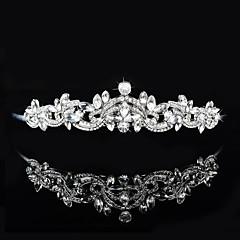 Women's Rhinestone / Crystal / Brass Headpiece-Wedding / Special Occasion Tiaras 1 Piece
