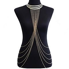 Damen Körperschmuck Bauchkette Körper-Kette / Bauchkette Harness Halskette Aleación Übergang Sexy Bikini Modisch Statement Schmuck Golden