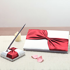 Satin Vegas ThemeWithRibbons Rhinestones Guest Book Pen Set