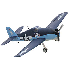Dynam F6F Hellcat 1:8 Brushless Eléctrico 50KM/H Quadcopter RC 5 canales 2.4G EPO Black&Blue Necesita Un Poco de Ensamblaje