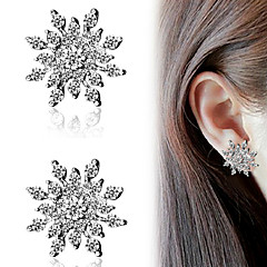 Earring Alphabet Shape Stud Earrings Jewelry Women Fashion Party / Daily / Casual Alloy / Rhinestone 1 pair Silver