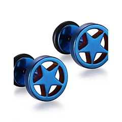 Heren Modieus Punk-stijl Roestvast staal Cirkelvorm Stervorm Geometrische vorm Sieraden Voor Dagelijks Causaal Kerstcadeaus