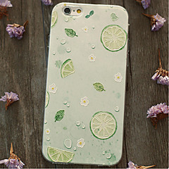 Für Stoßresistent Hülle Rückseitenabdeckung Hülle Frucht Weich TPU Apple iPhone 6s Plus/6 Plus / iPhone 6s/6 / iPhone SE/5s/5