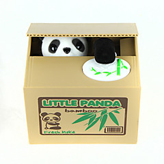 Mealheiro Roubo de banco de moedas Saving Money Box Case Piggy Bank Fofo Quadrada Panda