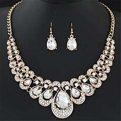 Komplet nakita Viseće naušnice Izjava Ogrlice Naušnica Bib ogrlice Moda Europska Elegantno luksuzni nakit Dragi kamen Imitacija dijamanta