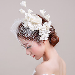 Women's Tulle / Basketwork / Net Headpiece-Wedding / Special Occasion / Casual / Outdoor Fascinators 1 Piece