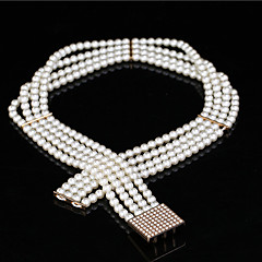 Bead / Elastic Wedding / Party/ Evening Sash-Imitation Pearl Women's 24 ½in(62cm) Imitation Pearl