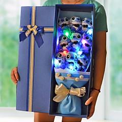 כלה מתנות חתיכה / סט אור LED יצירתי חתונה מיקרופיבר לא מותאם אישית אור LED כחול סקיי בהיר קופסאת מתנה