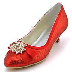 Women's Shoes Glitter Low Heel Round Toe Heels Wedding / Party & Evening / DressBlack / Blue / Yellow / Pink