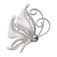 Frauen-Kristall Schmetterling Schal voller Strass Abzeichen Schnalle Mode Weihnachtsgeschenk Brosche