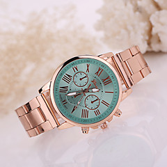 Women/Lady's Gold Stainless Steel Band Strap Watch Colorful Case No Water Resisstant Fashion Watch