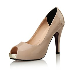 Women's Shoes Patent Leather  Fall Heels / Peep Toe / Heels Wedding