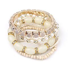 Bracelet Wrap Bracelet Alloy Round Fashion Wedding / Party Jewelry Gift Black / White / Blue / Orange / Green,1pc
