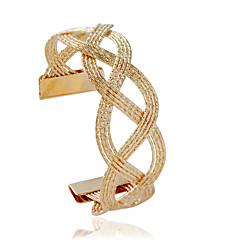 Armbånd Mansjettarmbånd Legering Tube Formet Mote Smykker Gave Gylden Sølv,1 stk