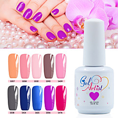 12 PCS/Set 2016 New Nail Gel Polish Soak Off UV Color Gel Polish Long-lasting Nail Gel Lacquer